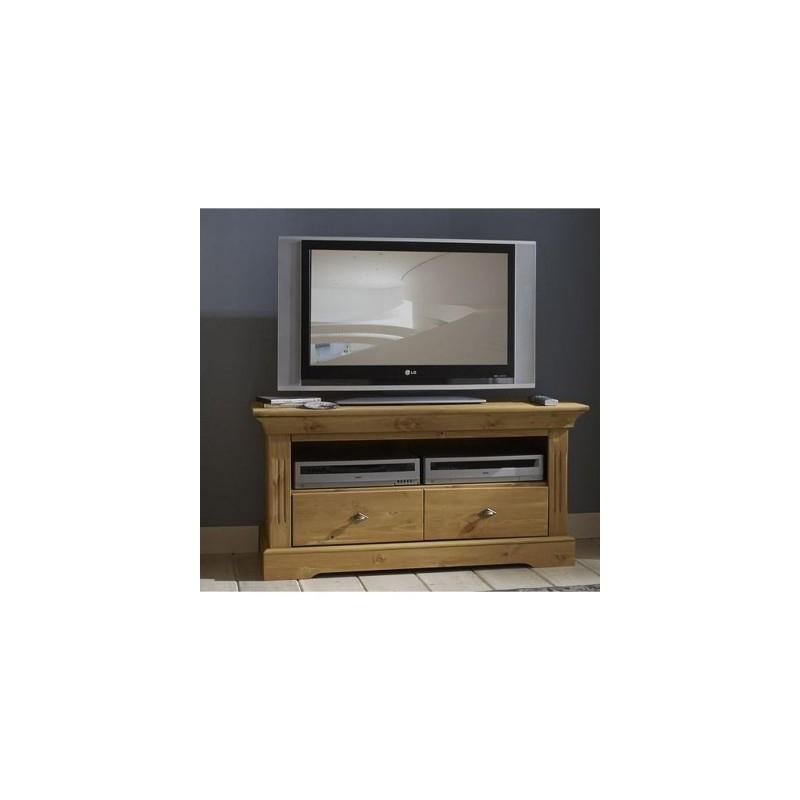 Petit meuble tv en pin massif - Petit meuble tv bois ...