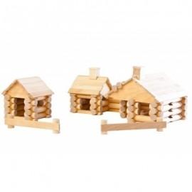 Chalet 111 pièces en bouleau - Varis Toys