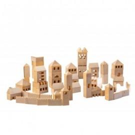 Ville à construire 107 pièces en bouleau - Varis Toys