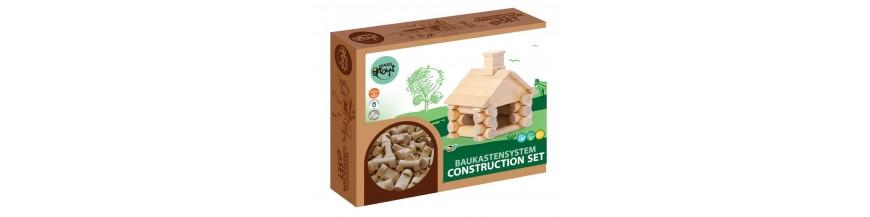Construction avec des pièces en bois